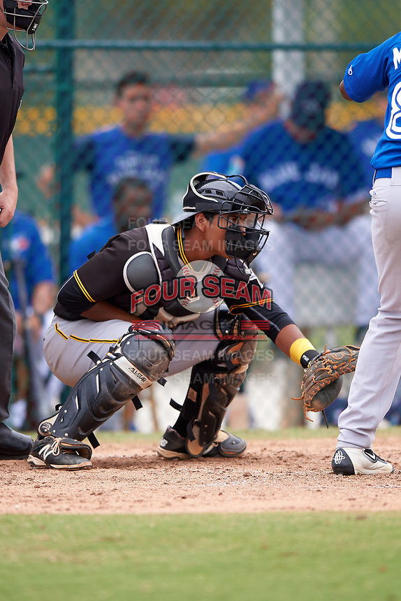 Pittsburgh Pirates Raul Hernandez (89) during a minor league Spring Training game against the Toronto Blue Jays on March 24, 2016 at Pirate City in Bradenton, Florida.  (Mike Janes/Four Seam Images)