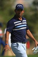 Pablo Larrazabal (ESP) on the 3rd during Round 3 of the Omega Dubai Desert Classic, Emirates Golf Club, Dubai,  United Arab Emirates. 26/01/2019<br /> Picture: Golffile | Thos Caffrey<br /> <br /> <br /> All photo usage must carry mandatory copyright credit (© Golffile | Thos Caffrey)