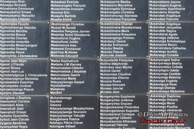 Names Of Some Of The  250,00 People Killed In Rwandan Genocide, Kigali Genocide Museum