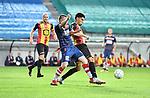 2018-08-27 / Voetbal / Seizoen 2018-2019 / KV Mechelen - Albert Quevy Mons / Olivier Huyzentruyt met Igor Di Camargo (r. KV Mechelen)<br /> <br /> ,Foto: Mpics