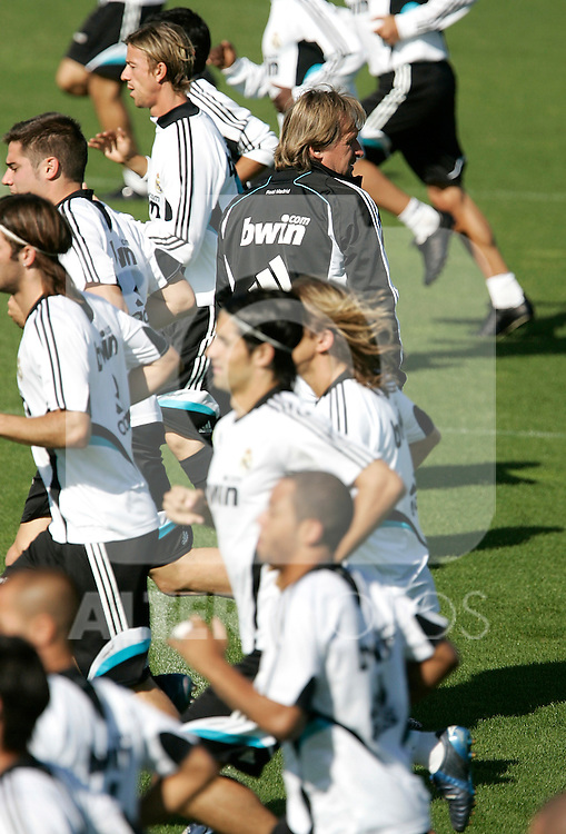 Real Madrid's coach Bernd Schuster during trainning session, September 19, 2008. (ALTERPHOTOS/Alvaro Hernandez)