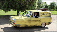 BNPS.co.uk (01202 558833)<br /> Pic:    DeanPaine/BNPS<br /> <br /> Only Fools superfan Dean Paine even used Del's famous three-wheeler to arrive at church to get married.<br /> <br /> Mon Dieu! An Only Fools and Horses superfan has been to 'Hull and Back' to pay tribute to the classic BBC sitcom.<br /> <br /> Dean Paine sat through 50 hours of agony to have the show's main characters tattooed on his back.<br /> <br /> Dean designed the brilliant body art himself using colour photos of Del Boy, Rodney, Grandad, Uncle Albert, Boycie and Trigger.<br /> <br /> He also included the Only Fools and Horses emblem and Del's famous yellow three wheeled van.