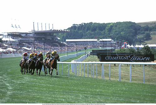 Action during the Marriott Hotels Goodwood Stakes Handicap, Glorious Goodwood, 990728. Photo: Glyn Kirk/Action Plus...1999.venue.horse racing.equestrian sports.racecourses racecourse.venue venues.flat .equestrian sports