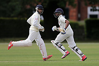 A Raji and N Jacobs of Ilford during Brentwood CC vs Ilford CC, Shepherd Neame Essex League Cricket at The Old County Ground on 8th June 2019