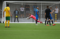 Dylan Merchant of Horsham (out of shot) scores the first goal during Horsham vs Hartley Wintney, Friendly Match Football at Hop Oast on 13th July 2019