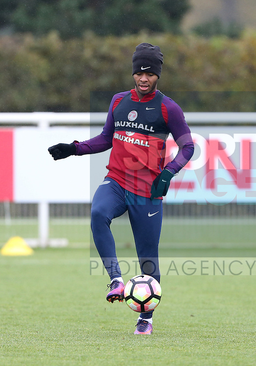 England's Raheem Sterling during training at Tottenham Hotspur training centre, London. Picture date November 14th, 2016 Pic David Klein/Sportimage