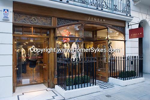 Jigsaw clothing store  Dover Street London W1.