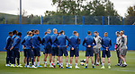 18.09.2019 Rangers training: Steven Gerrard addresses his players at training ahead of the Europa League match with Feyenoord