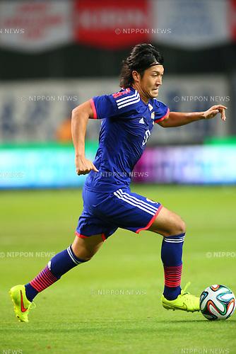 Yusuke Minagawa (JPN), <br /> SEPTEMBER 5, 2014 - Football / Soccer : <br /> KIRIN Challenge Cup 2014 <br /> match between Japan - Uruguay <br /> at Sapporo Dome, Hokkaido, Japan. <br />  (Photo by Yohei Osada/AFLO SPORT) [1156]