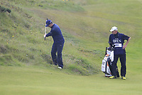 Justin Rose (ENG) plays from the rough at the 8th green during Sunday's Final Round of the 148th Open Championship, Royal Portrush Golf Club, Portrush, County Antrim, Northern Ireland. 21/07/2019.<br /> Picture Eoin Clarke / Golffile.ie<br /> <br /> All photo usage must carry mandatory copyright credit (© Golffile | Eoin Clarke)