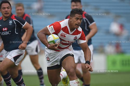 Ataata Moeakiola (JPN), MAY 28, 2016 - Rugby : Asia Rugby Championship game between Japan 59-17 Hong Kong at Prince Chichibu Memorial Stadium in Tokyo, Japan. (Photo by AFLO)