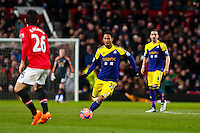 Sunday 05 January 2014<br /> Pictured: Jonathan de Guzman takes the balll forwards <br /> Re: Manchester Utd FC v Swansea City FA cup third round match at Old Trafford, Manchester