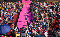 Maglia Rosa / overall leader Richard Carapaz (ECU/Movistar) celebrated in the Verona amphitheater as the 2019 Giro champion<br /> <br /> Stage 21 (ITT): Verona to Verona (17km)<br /> 102nd Giro d'Italia 2019<br /> <br /> ©kramon
