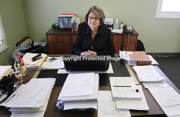 "Executive Director of the Laramie County Community Partnership, Frieda Gonzales, sits at her desk earlier this week at the organizations offices. Gonzales has been director of the organization that consists over 65 partners that come together to influence change and maximize support for the communities social services for the past 7years. ""My family is here but what I like most about living here is there are a lot of people that are using their knowledge and expertise to make this a better community."" said Gonzales. Michael Smith/staff"