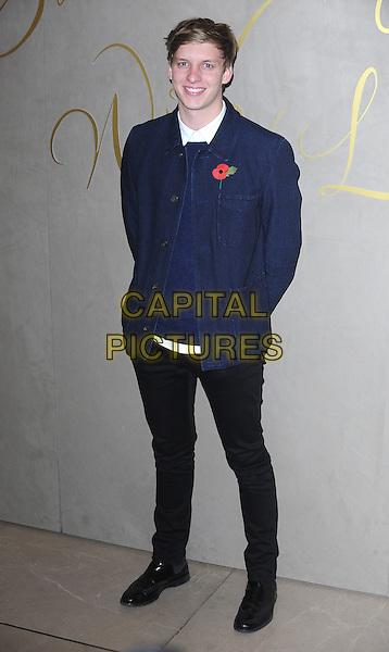 LONDON, ENGLAND - NOVEMBER 3: George Ezra attends the Burberry Festive Film Premiere at Burberry Regent Street on November 3, 2015 in London, England.<br /> CAP/BEL<br /> &copy;BEL/Capital Pictures