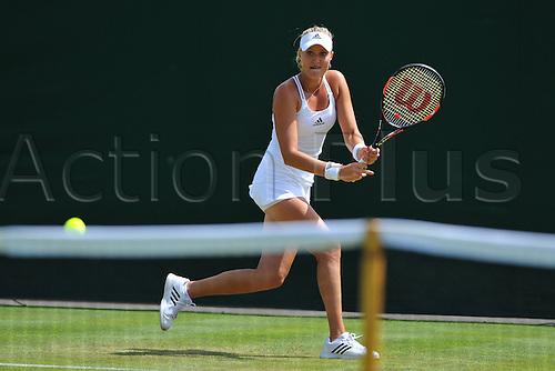 29.06.2015. Wimbledon, England. The Wimbledon Tennis Championships. Ladies' Singles first round match Kristina Mladenovic (Fra)