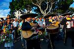 Costa Rica, Sarchi, Funeral Procession, Mariachi Band