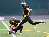 The Madison Mustangs shut out the Fond du Lac Crusaders 66-0 on July 18, 2009 at Breitenbach Stadium in Middleton, Wisconsin