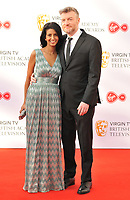Konnie Huq and Charlie Brooker at the Virgin TV British Academy (BAFTA) Television Awards 2018, Royal Festival Hall, Belvedere Road, London, England, UK, on Sunday 13 May 2018.<br /> CAP/CAN<br /> &copy;CAN/Capital Pictures