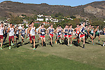 November 2, 2013; Malibu, CA, USA; Loyola Marymount, San Diego, Gonzaga, Pepperdine, and San Francisco men's cross country teams during the WCC Cross Country Championship at Alumni Park.
