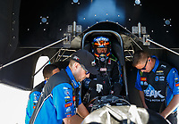 May 7, 2017; Commerce, GA, USA; Crew members for NHRA funny car driver John Force during the Southern Nationals at Atlanta Dragway. Mandatory Credit: Mark J. Rebilas-USA TODAY Sports
