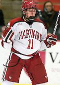Kyle Criscuolo (Harvard - 11) - The Yale University Bulldogs defeated the Harvard University Crimson 5-1 on Saturday, November 3, 2012, at Bright Hockey Center in Boston, Massachusetts.