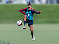 Cary, NC - September 28, 2018:  The USWNT trains in preparation for the group stage of the 2018 CONCACAF Women's Championship at WakeMed Soccer Park.