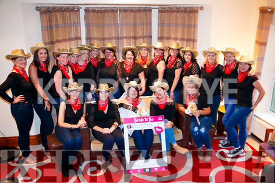 Edel Keane of Gneeveguilla on her hen party in Brooklane Hotel Kenmare with family an friends ahead of her wedding to John Paul Lehane of Kiskeam.