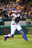 South Bend Cubs catcher Tyler Alamo (22) throws to first during a game against the Burlington Bees on July 22, 2016 at Four Winds Field in South Bend, Indiana.  South Bend defeated Burlington 4-3.  (Mike Janes/Four Seam Images)
