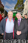 ..OLD FRIENDS: Old friends meet up in Tralee on Thursday Willie Ryle who is an old friend of Michael D Higgins as they met up on thursday on his presidential campaine.