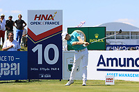 Matthew Fitzpatrick (ENG) on the 10th tee during Round 1 of the HNA Open De France at Le Golf National in Saint-Quentin-En-Yvelines, Paris, France on Thursday 28th June 2018.<br /> Picture:  Thos Caffrey | Golffile