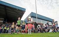 Picture by Allan McKenzie/SWpix.com - 11/05/2017 - Rugby League - Ladbrokes Challenge Cup - Featherstone Rovers v Halifax RLFC - The LD Nutrition Stadium, Featherstone, England  - Halifax & Featherstone come out onto the field for their Ladbrokes Challenge cup tie.