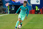 FC Barcelona's Denis Suarez in action during the match of Copa del Rey between Atletico de  Madrid and Futbol Club Barcelona at Vicente Calderon Stadium in Madrid, Spain. February 1st 2017. (ALTERPHOTOS/Rodrigo Jimenez)