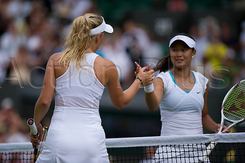 June 24th 2010: Wimbledon International Tennis Tournament held at the All England Lawn Tennis Club, London, England, Caroline Wozniacki of DEN playing Kai-Chen Chang of TPE