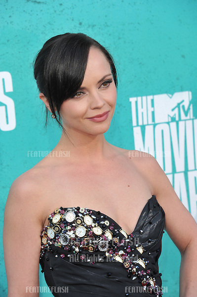 Christina Ricci at the 2012 MTV Movie Awards at Universal Studios, Hollywood..June 4, 2012  Los Angeles, CA.Picture: Paul Smith / Featureflash