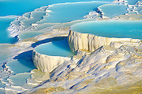 Photo & Image  of Pamukkale Travetine Terrace, Turkey. Images of the white Calcium carbonate rock formations. Buy as stock photos or as photo art prints. 5 Pamukkale travetine terrace water cascades, composed of white Calcium carbonate rock formations, Pamukkale, Anatolia, Turkey
