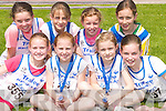 HARRIERS: Looking over  the competition were young Tralee Harriers at the Athletic Association of Ireland Munster Juvenile under 10 & 12 games and U13 & 14 Championships at An Riocht Track, Castleisland on Saturday Iseult Ni Bhuachalla, Aoife O'Carroll, Aoibheann O'Brien, Louise O'Connor, Jean Hickie, Micheala O'Connor, Grace Hickie and Jenny Godley..