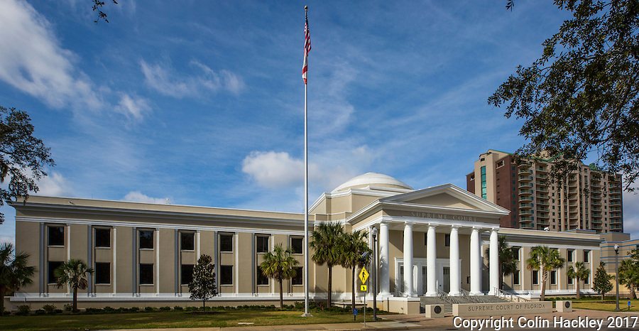 TALLAHASSEE, FLA. 1/4/17-The Florida Supreme Court building in Tallahassee.<br /> <br /> COLIN HACKLEY PHOTO