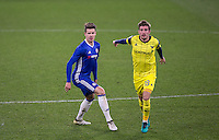 Marco Van Ginkel of Chelsea beside Joe Rothwell of Oxford United during the The Checkatrade Trophy match between Chelsea U23 and Oxford United at Stamford Bridge, London, England on 8 November 2016. Photo by Andy Rowland.