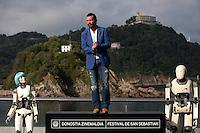 Antonio Banderas presents the film 'Automata' during the 62st San Sebastian Film Festival in San Sebastian, Spain. September 20, 2014. (ALTERPHOTOS/Caro Marin) /NortePhoto.com /NortePhoto.com