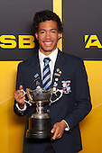 Sportsman of the Year Joshua Hawkins from Sacred Heart College. ASB College Sport Young Sportsperson of the Year Awards held at Eden Park, Auckland, on November 24th 2011.