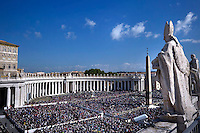 Pope Francis celebrated a Mass for the Marian Jubilee,  in St. Peter's Square in Vatican on October 09, 2016