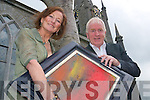Artist Gemma Billington with Deputy Jimmy Deenihan, who launched her exhibition at St John's Theatre and Arts Centre in Listowel on Friday.    Copyright Kerry's Eye 2008