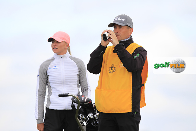 Daniella Barrett (FIN) on the 8th tee during Round 3 Matchplay of the Women's Amateur Championship at Royal County Down Golf Club in Newcastle Co. Down on Friday 14th June 2019.<br /> Picture:  Thos Caffrey / www.golffile.ie