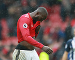 Romelu Lukaku of Manchester United walks off dejected during the premier league match at the Old Trafford Stadium, Manchester. Picture date 15th April 2018. Picture credit should read: Simon Bellis/Sportimage