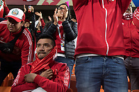 YEKATERINBURG, RUSSIA - June 21, 2018: Peru fans react to their team losing against France during a 2018 FIFA World Cup group stage at Yekaterinburg Arena Stadium.