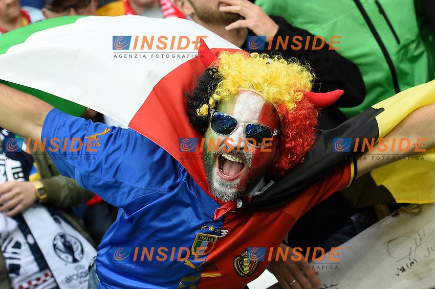Tifoso Italia Supporter <br /> Lyon 13-06-2016 Stade de Lyon Footballl Euro2016 Belgium - Italy / Belgio - Italia Group Stage Group D. Foto Michael Daniel Christen /EQ Images / Panoramic  / Insidefoto