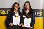 Waka Ama Girls finalists Epenesa Iosua and Te Huia Taylor. ASB College Sport Young Sportsperson of the Year Awards held at Eden Park, Auckland, on November 11th 2010.