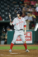 Danny Mars (16) of the Greenville Drive at bat against the Greensboro Grasshoppers at NewBridge Bank Park on August 17, 2015 in Greensboro, North Carolina.  The Drive defeated the Grasshoppers 5-4 in 13 innings.  (Brian Westerholt/Four Seam Images)