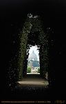 Through the Keyhole St Peter's Dome Sovereign Military Order of Malta Garden near Giardino Degli Aranci Aventine Hill Rome